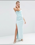 Asos maxi miętow pastelowa sukienka bandażowa 36