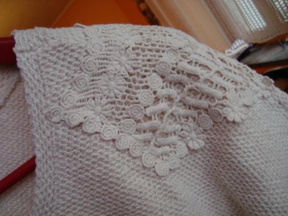 Swetry Ecru bluza z koronką S