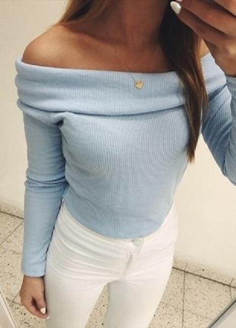 sweterek baby blue gina tricot M...