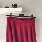 bordowa spódnica rozkloszowana zamek h&m S