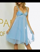 błękitna sukienka z cekinami 34