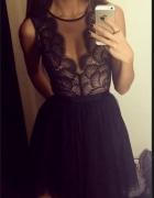 Koronkowa sukienka tiul siateczka...