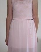 Sukienka tiulowa z koronkową górą