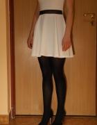 sukienka xs 34 biało czarna