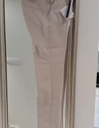Beżowe spodnie na kant eleganckie Stradiv 34 i36