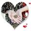 Naszyjnik złote ażurowe serce z łańcuszkiem