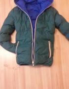 Dwu stronna kurtka XS lub s niebieska zielona