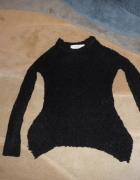 Sweter ZARA z wełny czarny rozm S