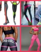 Leginsy neon fitness do ćwiczeń...