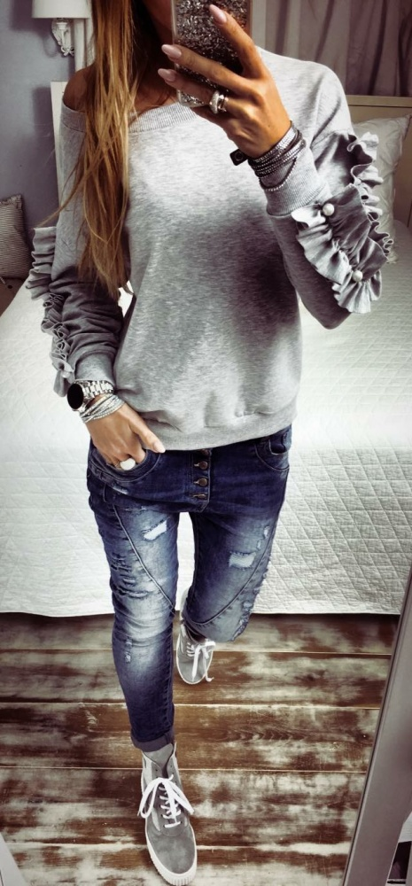 Grey&Silver&Jeans