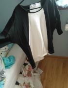 elegancka czarnobiała bluzka