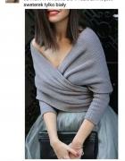 Sweterek kopertowy jedynie biały