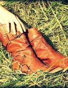 Blogerskie kowbojki botki skóra