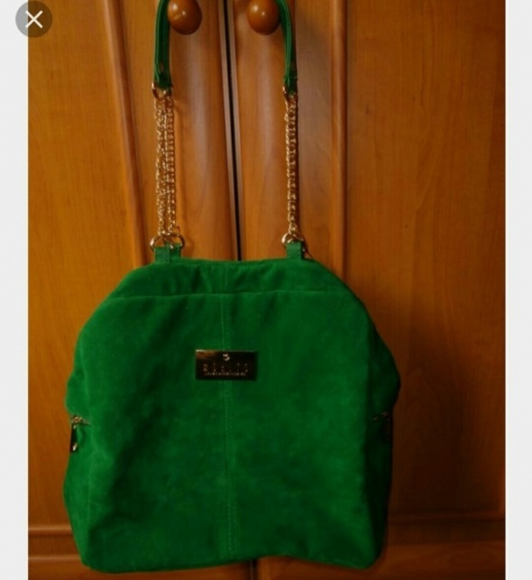 5d22d3f2e5470 Zamszowa zielona torebka Mohito w Torebki na co dzień - Szafa.pl