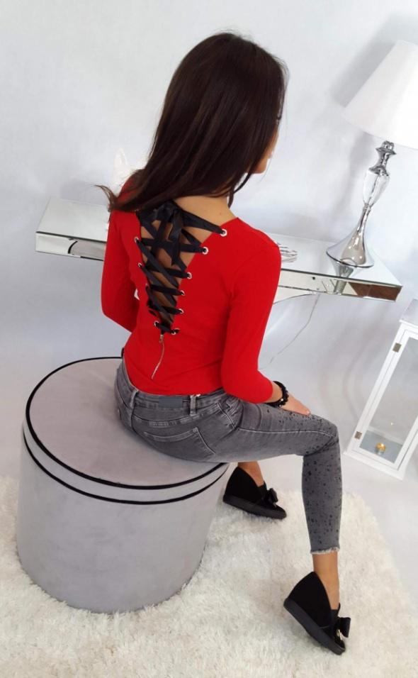 Body wiazane na plecach czerwone xs s m