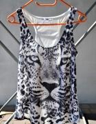 bluzka z tygrysem tygrym oversize bokserka