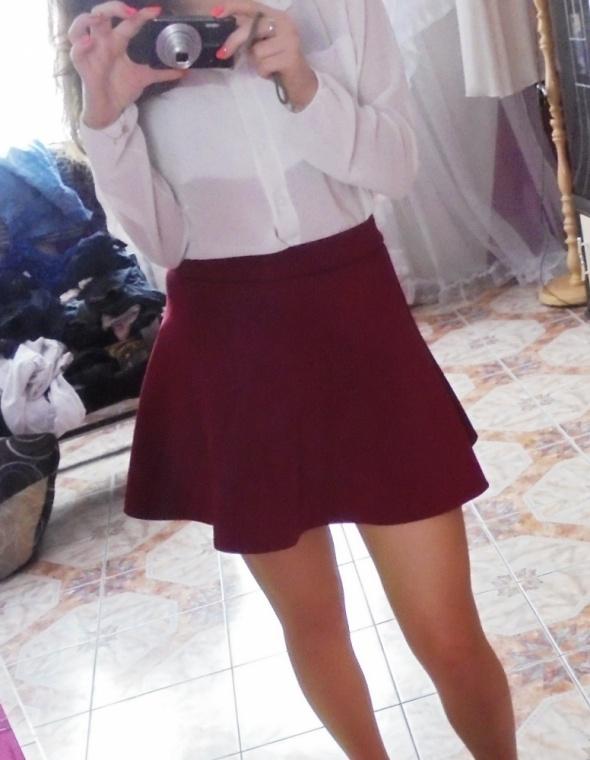 Spódnice burgundowa spodniczka 36