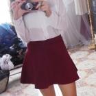 burgundowa spodniczka 36