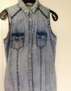 Jeansowa koszula z ćwiekami