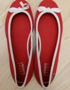 baleriny Lacoste czerwone nowe