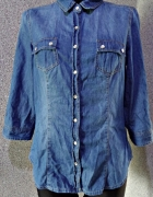 koszula ciemna jeans dżins 38 m