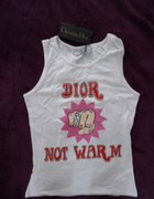christian dior not warm bluzka z metką M...