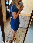 Sukienka Amisu 34 36 XS S kobaltowa dresowa