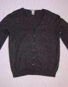 GAP szary sweter kardigan cashmere L...