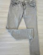 Szare jeansy L