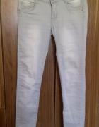Spodnie Jeans rurki szare