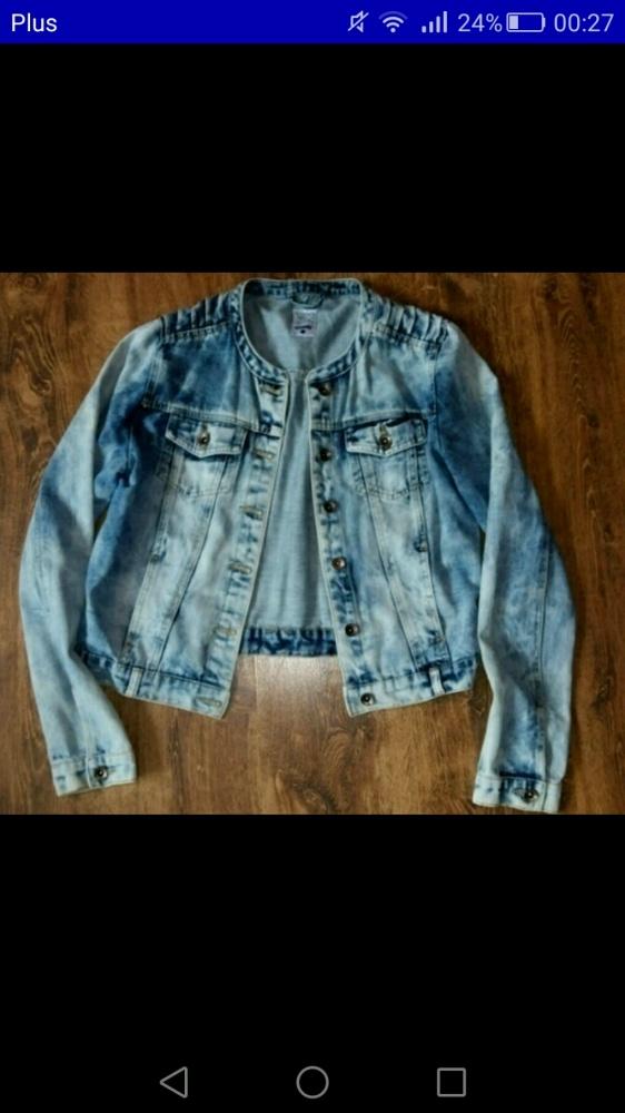 katana kurtka jeans sinsay