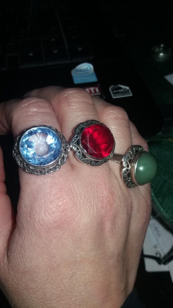 Warmet lata 60 srebrne pierścionki koroneczki