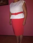 Sukienka z baskinką rozm 48 50