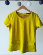 żółta musztardowa bluzka