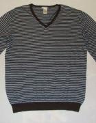 GAP sweter paski cashmere XL JNOWY...