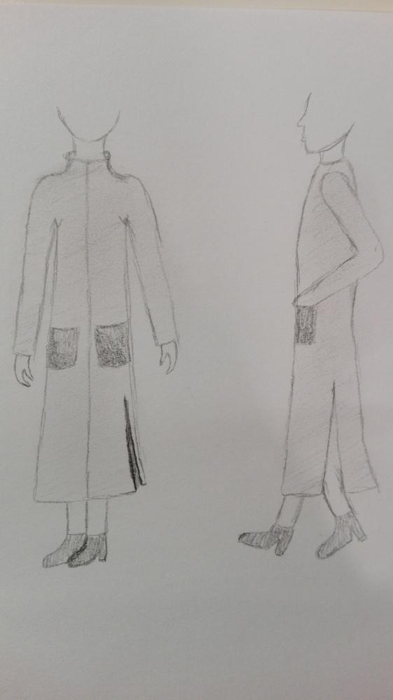 Długi płaszcz damski...