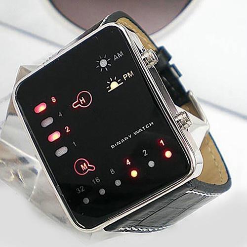 Zegarek led binarny