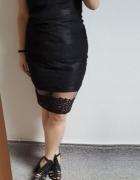 Nowa czarna koronkowa seksowna sukienka r 44