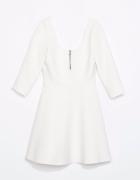 sukienka biała rozkloszowana zara 34 XS