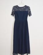 Suknia sukienka maxi cekiny ciążowa rozmiar 38 M