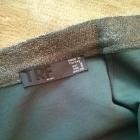 srebrna midi spódnica