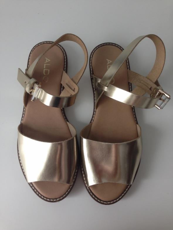 Sandały złote sandały ALDO