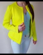 Wiosenna kurtka cytrynowy neon