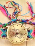 Kolorowy zegarek łapacz snów