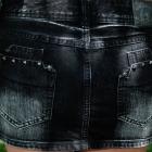 jeansowa spodnica z ćwiekami