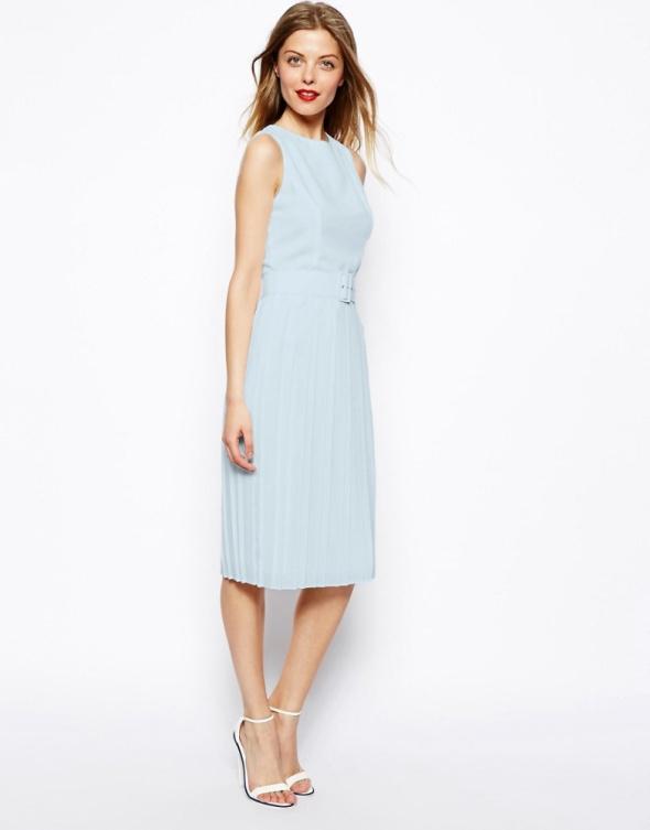 47e9dc0514 Sukienka ASOS baby blue plisowana 42 xl NOWA w Suknie i sukienki ...