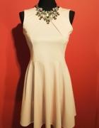 Sukienka pudrowy róż roz 36