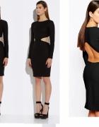ASOS aqaq czarna sukienka z odkrytymi plecami 36 s