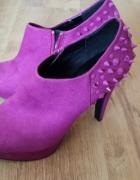 fioletowe botki