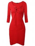 sukienka kopertowa wiazany dekolt